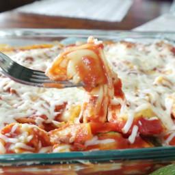 Healthy Zucchini Tortellini Bake (400 Calories)