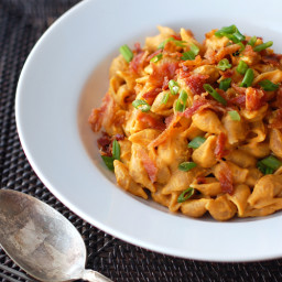 Healthy Bacon  and  Pumpkin Pasta