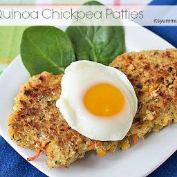 Healthy Recipe ~ Quinoa Chickpea Patties
