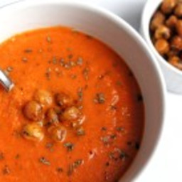 heart-healthy tomato chickpea soup