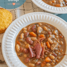 Hearty 15 Bean Soup in the Instant Pot