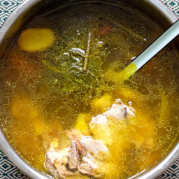 Hearty Chicken Bone Broth (Instant Pot recipe)