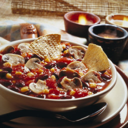 Hearty Fresh Mushroom Chili Soup