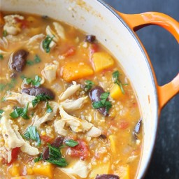 Hearty Chicken Stew with Butternut Squash and Quinoa Recipe