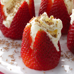 Heavenly Filled Strawberries Recipe