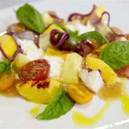 Heirloom Tomato, Lobster, Peach and Stracciatella Salad