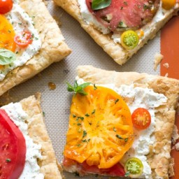 Heirloom Tomato Ricotta Tart