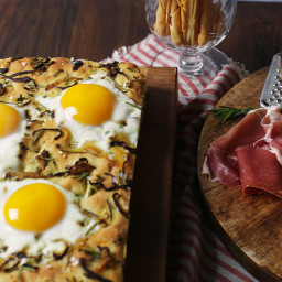 Herb, Caramelized Onion and Fennel Breakfast Focaccia