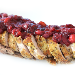 Herb Crusted Pork Tenderloin w/ Cranberry Chutney