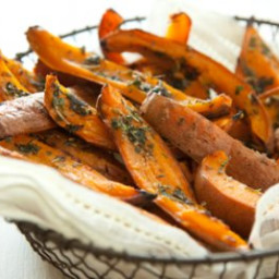 Herb-Roasted Sweet Potato Skins