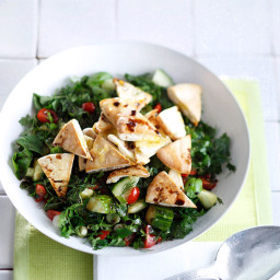 Herb Salad with Pita Croutons | Recipes & Meals