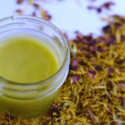 Herbal Dry Skin Salve (with chamomile, calendula, and roses)