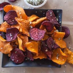Herbed Beet Chips