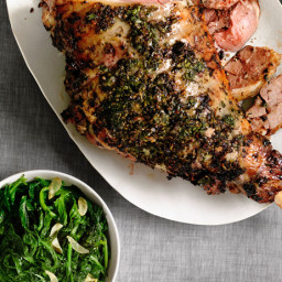 Herbed Leg of Lamb with Roasted Turnips
