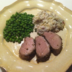 Herbed Pork Tenderloin with Oven Roasted Fingerling Potatoes