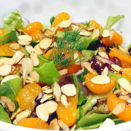 Herbed Salad with Mandarin Oranges, Avocado and Almonds
