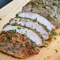 herb roasted pork loin