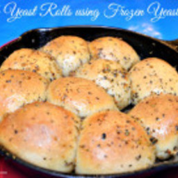 Herb Yeast Rolls using Frozen Dough