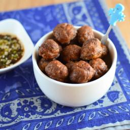 Hidden Vegetable Beef Meatballs with Dipping Sauce