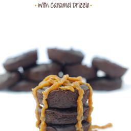 Hidden Veggies Two-Bite Brownies w/ Caramel Drizzle