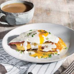Hoecake Eggs Benedicts
