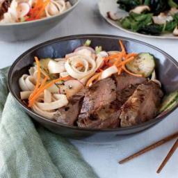 Hoisin Grilled Flank Steak with Noodle Salad