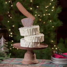 Holiday Yule Log with Ax Topper