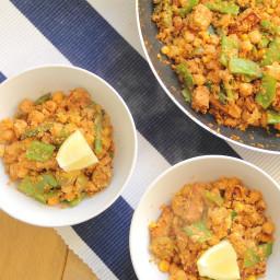 Tofu Chorizo and Cauliflower Rice | Vegan, Gluten-free