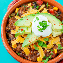 Healthy Vegetarian Quinoa Chili