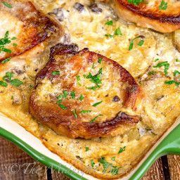 Pork Chops and Scalloped Potatoes Casserole