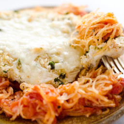 Skinny Spaghetti Squash Chicken Parmesan