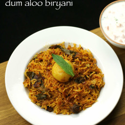 aloo dum biryani recipe | potato biryani in cooker | aloo biryani recipe