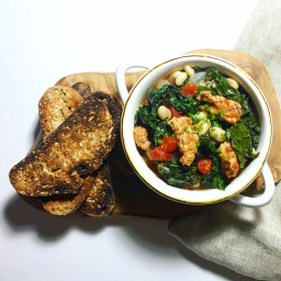 Slow-cooker Kale, Bean and Sausage Stew