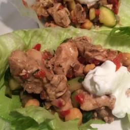 Greek Chicken Lettuce Wraps - 2 Smart Points