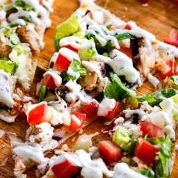 Chicken Gyro Flatbread Pizzas
