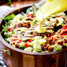 Chipotle Chicken Salad with Honey Mango Dressing