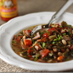 New Year and rsquo;s Soup with Black Eyed Peas and Collards