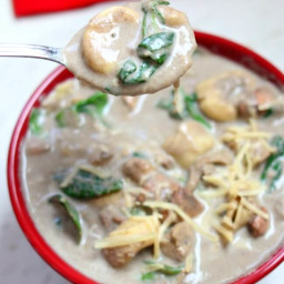 Slow Cooker Chicken Mushroom Tortellini Soup