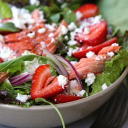 Simple Strawberry Salmon Salad