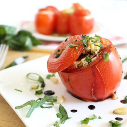 Basil Cheese Stuffed Tomatoes