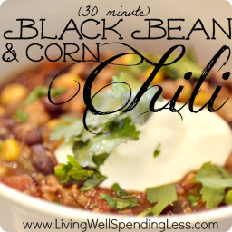 Easy Corn & Black Bean Chili