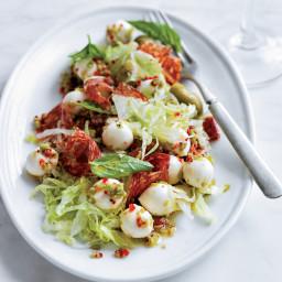 Antipasto Salad with Salami & Green Olive–Marinated Bocconcini