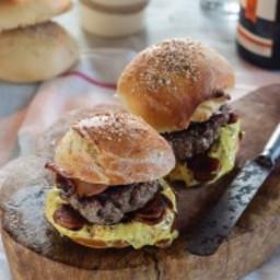 Home made hamburgers and buns