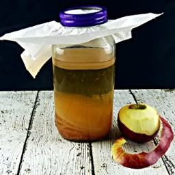Homemade Apple Cider Vinegar from Scraps