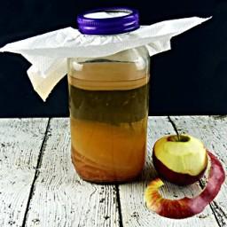 Homemade Apple Cider Vinegar from Scraps
