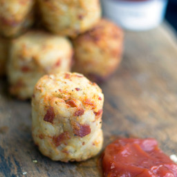 Homemade Bacon Blue Cheese Tater Tots
