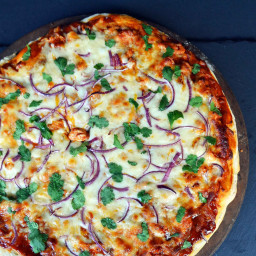Homemade BBQ Chicken Pizza