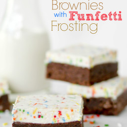 Homemade Brownies with Funfetti Frosting