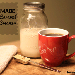 Homemade Caramel Vanilla Coffee-Creamer