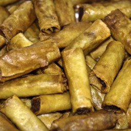 Homemade Chinese Egg Rolls With Pork or BBq Pork